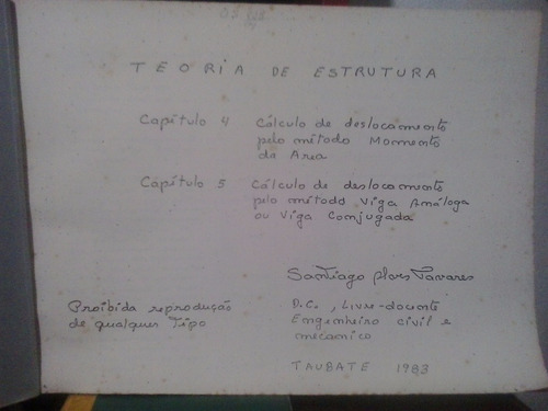 teoria de estrutura capítulos 4 e 5 - santiago tavares 1983