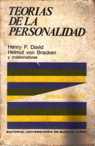 teorías de la personalidad - david y von bracken