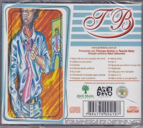 tequila baby - cd sangue ouro e pólvora - 1999 - lacrado