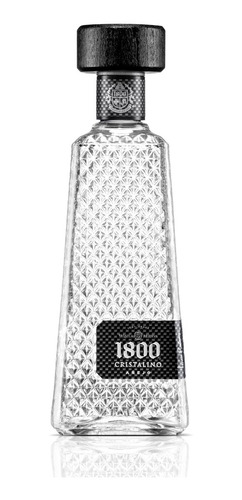 tequila cuervo 1800 cristalino añejo de 700 ml.