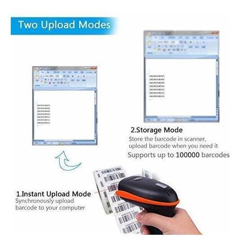tera escáner de códigos de barras inalámbrico 1d escáner