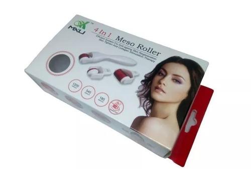 terapia cara y cuerpo  derma roller 3 en 1 micro aguja