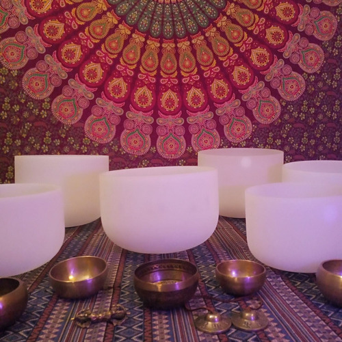 terapia cuencos tibetanos, cuencos de cuarzo