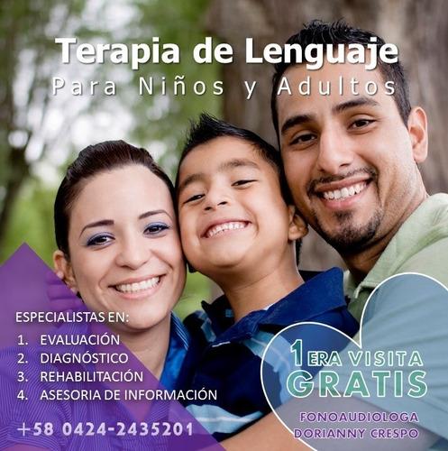terapia de lenguaje y fonoaudiologia para niños a domicilio