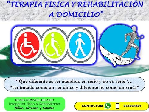 terapia fisica y rehabilitacion a domicilio