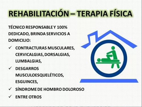 terapia fisica y rehabilitación a domicilio
