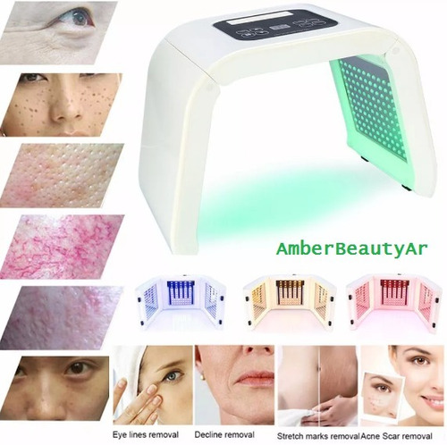 terapia fotoluminica led facial y corporal 4 colores