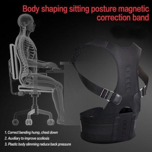 terapia magnética postura corrector apoyo volver hombro bra