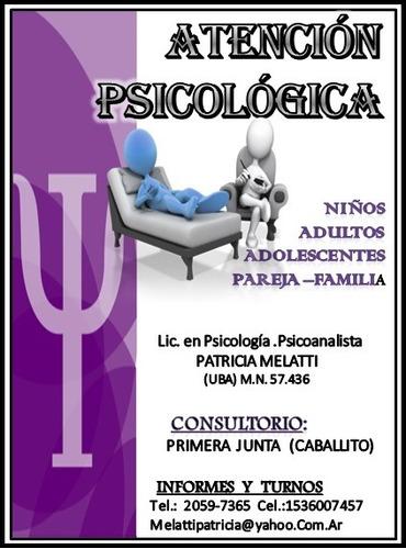 terapia psicoanalitica 1ºentrevista sin costo caballito