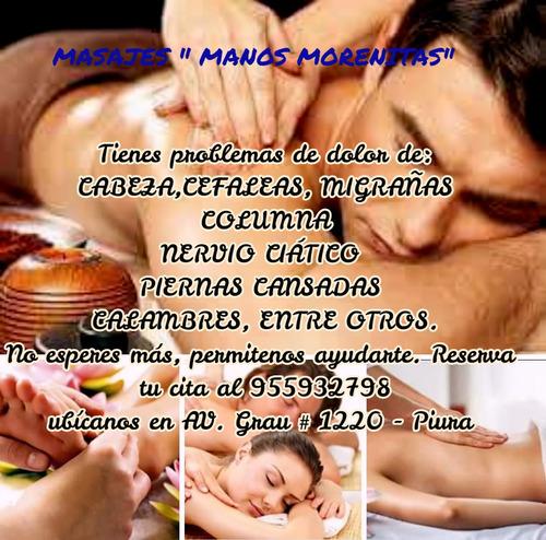 terapias del dolor, masajes relajantes