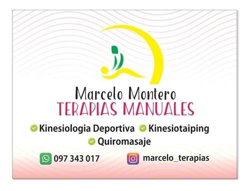 terapias manuales/ masajes /piedras calientes / taping