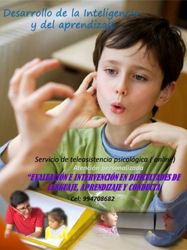 terapias psicológicas on line: lenguaje-aprendizaje-conducta