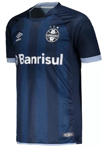 terceira camisa grêmio umbro azul marinho 2017 - promoção