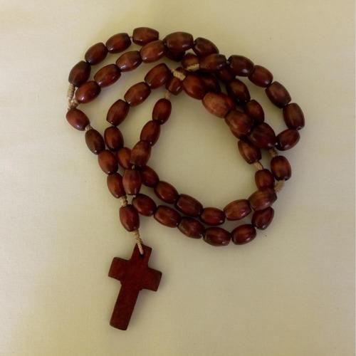 terço de madeira cruz lisa ref: 6242 (unidade)