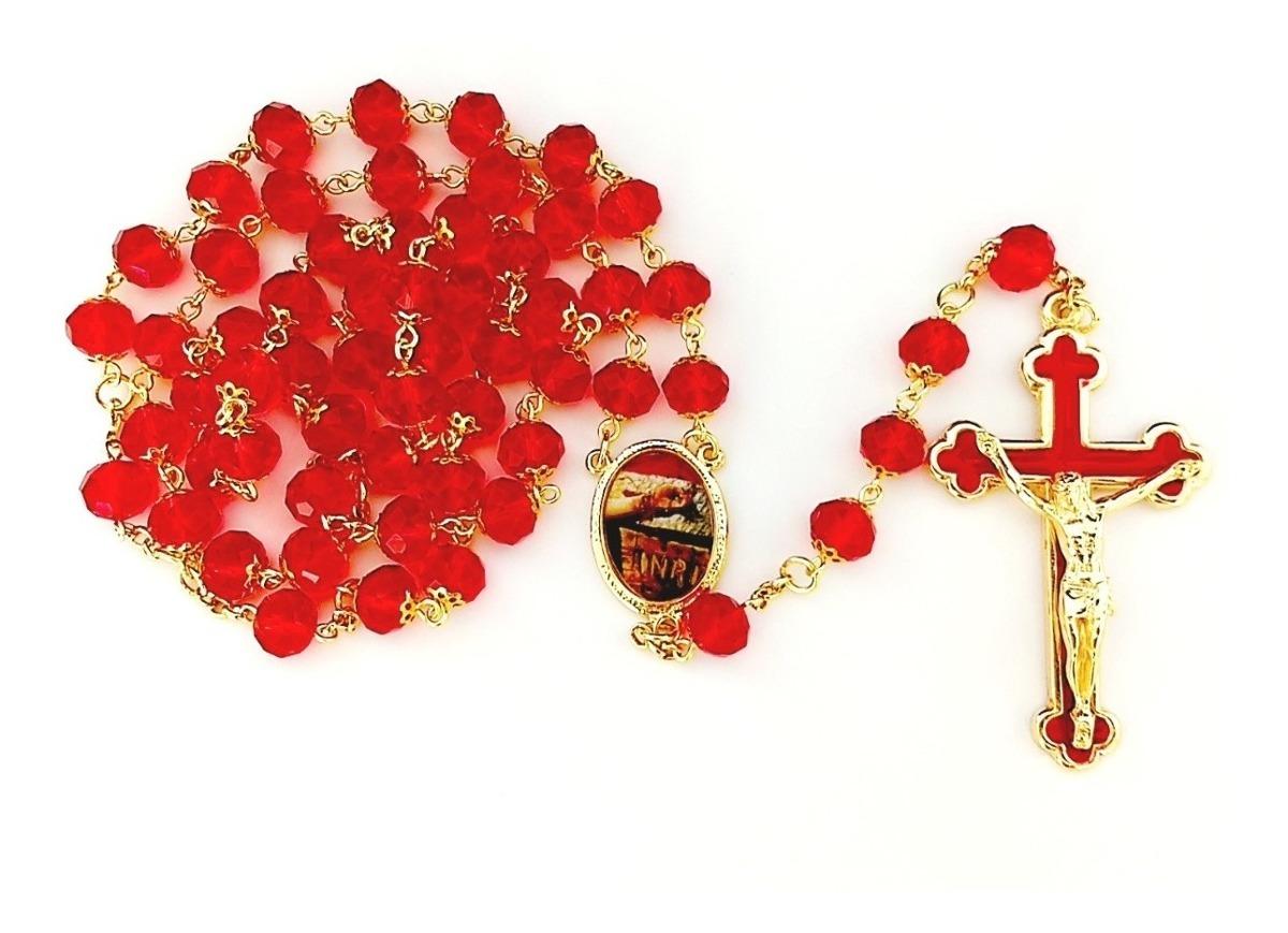 Terço E Pulseira Mãos Ensanguentadas De Jesus Promoção - R$ 189,00 ...