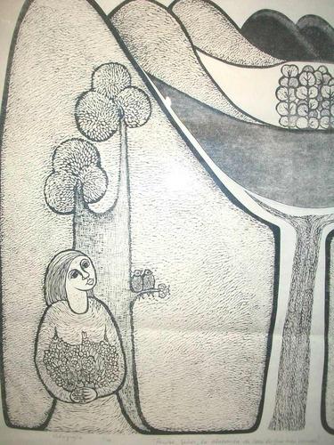 teresa gazitua - xilografia  1976