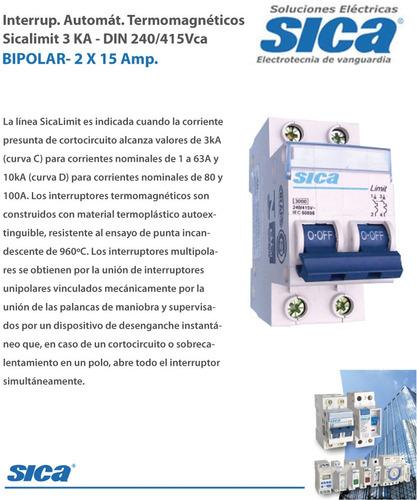 termica bipolar sica  15 amper. nueva