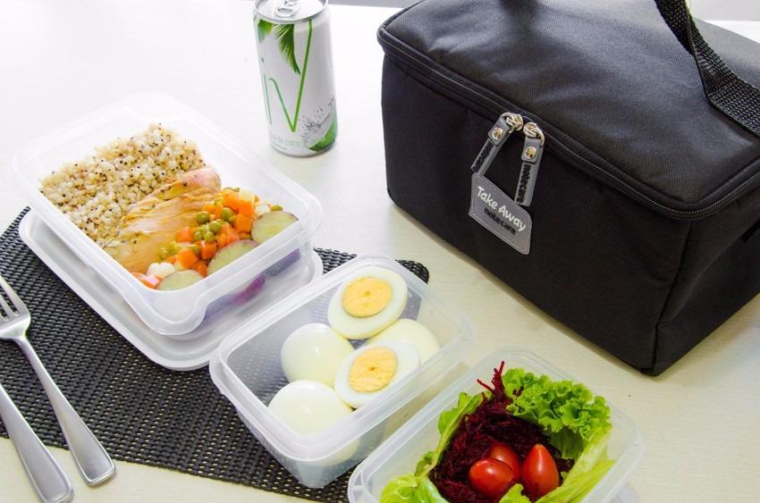 Bolsa Para Levar Comida Fitness : Bolsa t?rmica com itens dieta nutri??o fitness marmita