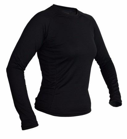 térmicas manga larga color negro hombre y mujer c/friza