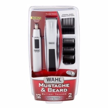 terminadora barba y cortadora vello nasal, oido wahl plata