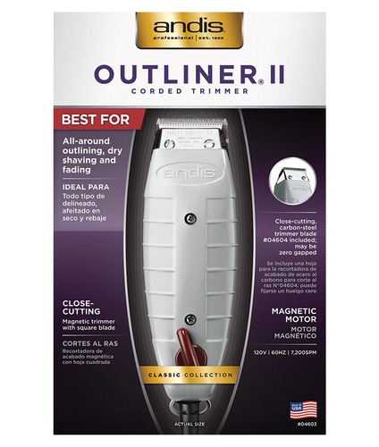 terminadora profecional andis outliner® ii square blade