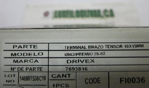 terminal brazo tensor fiat uno / premio 16x1.5mm m/v