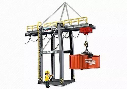 terminal de carga contenedores barco playmobil 5254