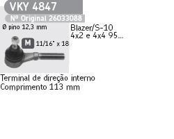 terminal de direçao s10 blazer original skf vky 4847
