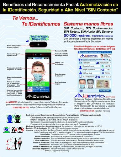 terminal de reconocimiento facial con control de temperatura