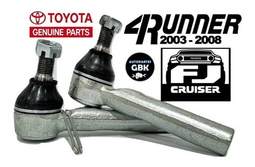 terminal dirección toyota 4runner 2003-2008 fj cruiser tiend