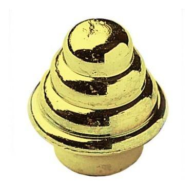 terminal dorado 3/4` bolsa x 100 unid alumcor