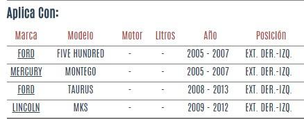 terminal ext der - izq ford five hundred 2005 - 2007 vzl
