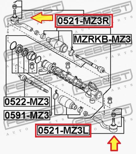 terminal externo delantero lh direccion mazda 3 mazda 5