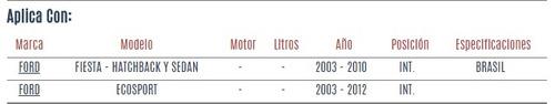 terminal interior ford ecosport 2003 - 2012 vzl