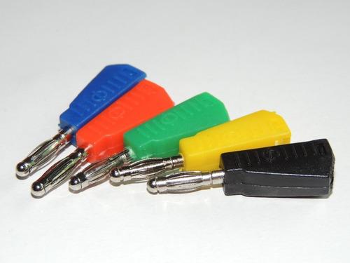 terminal, plug, jack, tipo banana 4 mm para soldar  5 unidad