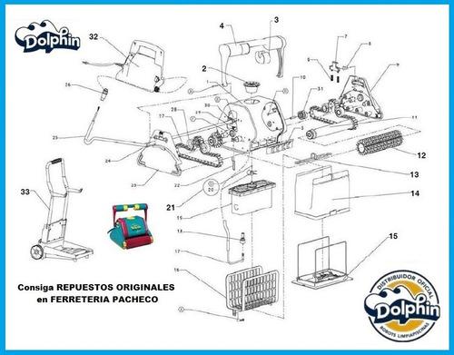 terminal repuesto para robot dolphin todos los modelos