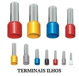 terminal tubular ilhós 25,0mm² c/ 15 pçs