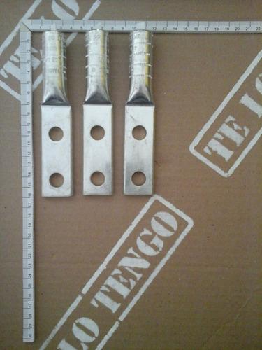 terminales de aluminio de 1/2  de dos huecos