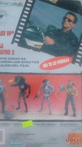 terminator 2 muñeco + vhs - jocsa kenner 1991