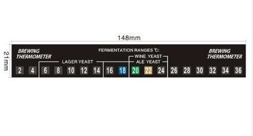 termômetro adesivo p/ balde fermentador - cerveja artesanal