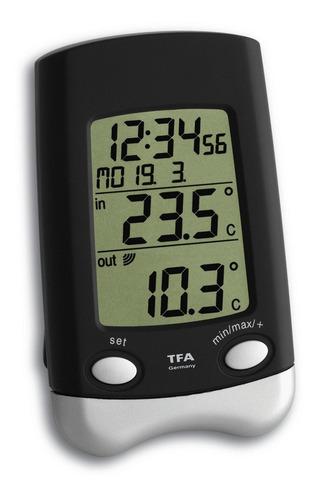 termômetro alemão digital sem fio interno e externo incoterm