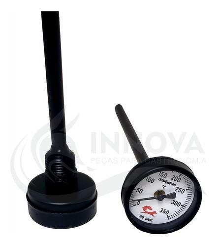 termômetro analogico para forno iglu a lenha haste 20cm 500º