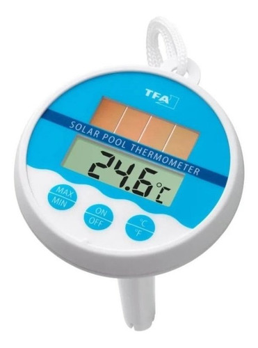 termômetro de piscina com painel solar alemão tfa