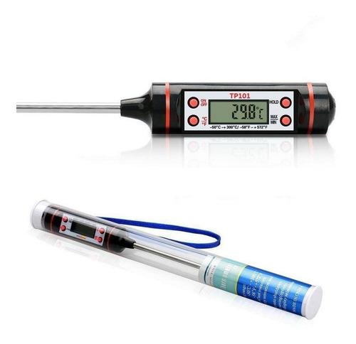 termômetro digital culinário tipo espeto + balança digital