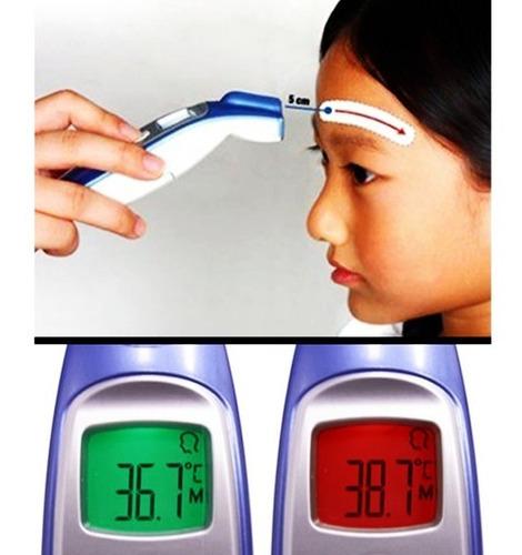 termômetro digital de testa sem contato infravermelho g-tech
