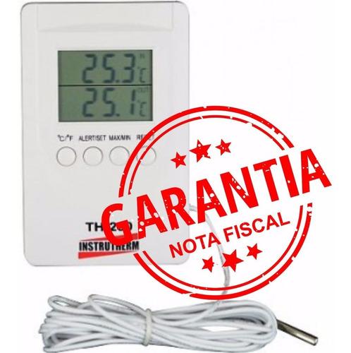 termômetro digital máxima/mínima e externa/interna - novo