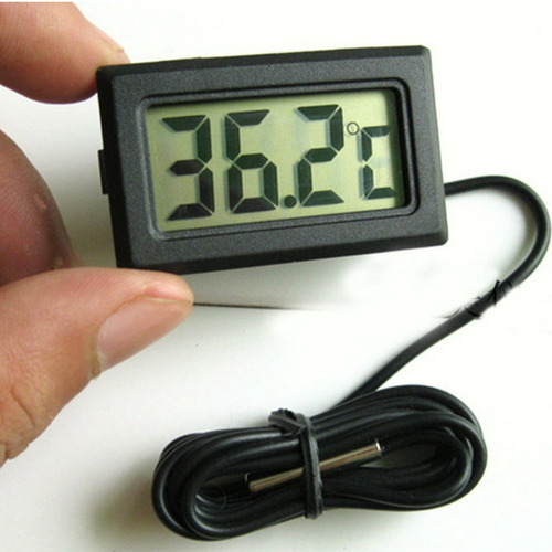 termômetro lcd digital para uso geral com sensor externo