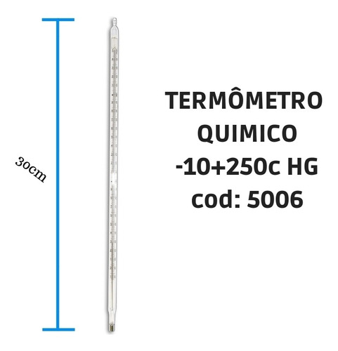 termômetro químico escala interna  -10+250:1c hg incoterm