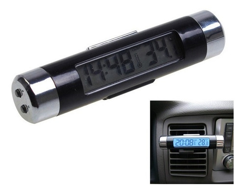 termômetro relógio carro automotivo lcd digital frete 18,00