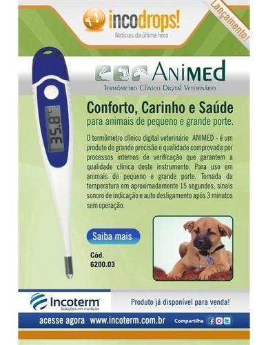 termômetro veterinário digital animed incoterm